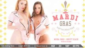 Mardi Gras VirtualRealPorn Misha Cross Kristy Black Potro de Bilbao vr porn video vrporn.com virtual reality