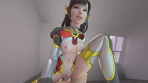 Carbon D.Va Cowgirl VR (With Sound) Pup's Smut vr porn video vrporn.com virtual reality