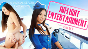 Inflight Entertainment VR Bangers Vina Sky vr porn video vrporn.com virtual reality