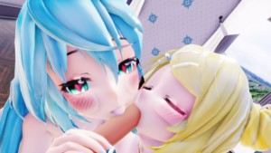 Vocaloid – Miku & Rin Double Treatment Lewd FRAGGY vr porn video vrporn.com virtual reality