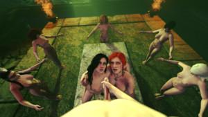 Witcher - The Yule Ritual DarkDreams Triss Merigold yennefer vr porn video vrporn.com virtual reality